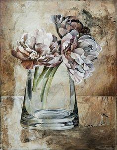 fine art since 1989 Decoupage, Linda Thompson, Still Life Flowers, Pin Art, Still Life Art, Russian Art, Matisse, Painting Techniques, Landscape Art