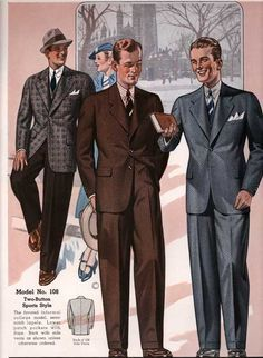 This is an example of the types of suits men were wearing in the 1930s d59e4d72eb815