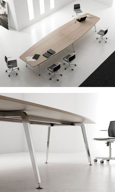 Rectangular wooden meeting table XF MEETING by FAMO | #design Daniel Korb:
