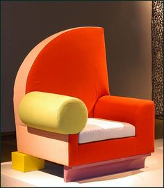 """Chair  """"Bel Air"""" Design for Memphis, Milano 1982, Italy  --  Peter Shire"""