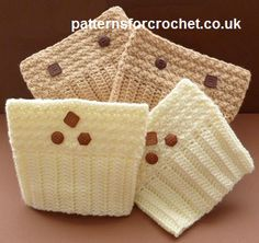 Patterned Boot Cuffs ~ Patterns For Crochet