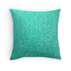 Bright Aquamarine Aqua Blue Sparkly Glitter