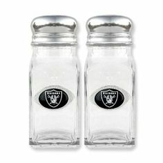NFL Raiders Glass Salt and Pepper Shakers Jewelry Adviser Nfl Gifts. $25.00