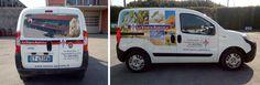 Decorazione su Fiat Fiorino realizzata tramite l'applicazione di stampa digitale e scritte in pvc adesivo prespaziato. La progettazione grafica, la stampa e l'installazione delle pellicole sui mezzi viene totalmente realizzata dal nostro studio. Van, Studio, Vehicles, Studios, Car, Vans, Vehicle, Vans Outfit, Tools