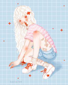 hello i'm saccstry and i love drawing creepy cute girls, surrealism, and gore Creepy Drawings, Creepy Art, Arte Horror, Horror Art, Anime Kawaii, Kawaii Cute, Creepy Animals, Alien Art, Brown Art