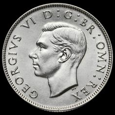 1945 George VI Silver Two Shilling Coin / Florin, G/EF