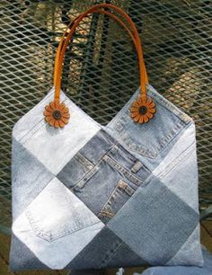 Kathy's Place: Recycled Jeans Bag