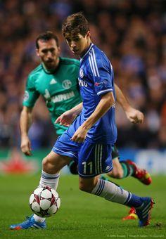 Oscar. Chelsea 3-0 FC Schalke 04. Champions League Group Stage. Wednesday, November 7, 2013.
