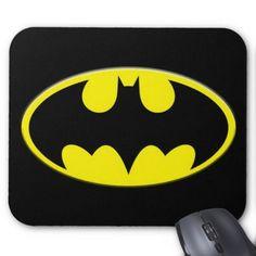 Cool Yellow Batman Logo Mouse Pad - logo gifts art unique customize personalize