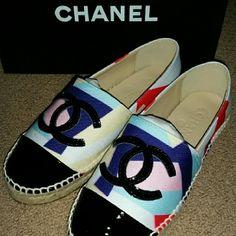 Multicolor Shoes Espadrilles sz 7 New with box CHANEL Shoes Espadrilles