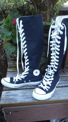 16945dbbce Converse Chuck Taylor All Star 1V708 Zip amp Lace Up Knee-High Sneakers  USM4