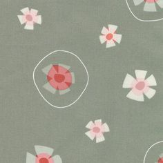 Andover Fabrics Garden Party Gray Abstract Floral Print By the Yard.