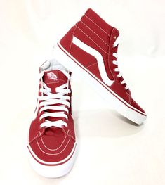 37 Elegant Red Shoes Mens Ideas For Christmas Day Buy Shoes, Vans Shoes, Shoes Sneakers, Orthopedic Shoes, Red Vans, Shoes Too Big, Mens High Tops, Skate Style, Minimalist Shoes