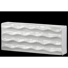Urban Trends Collection Wide Rectangular Vase Gloss FInish