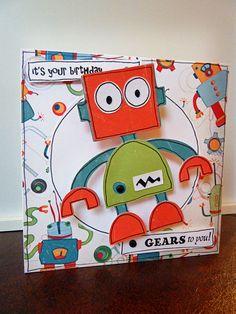Robot card on a wobble - Cards. - Cricut Forums