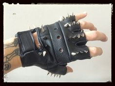 Hellraiser Spiked Gloves from Chad Cherry I Fall Apart, Halloween Cosplay, Visual Kei, Hard Rock, Fingerless Gloves, Jewlery, Goth, Punk, Emo
