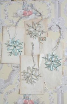 vintage snowflake ornaments : Cody Foster and Co Snowflake Decorations, Snowflake Ornaments, Snowflakes, Christmas Ornaments, Cody Foster, Let It Snow, Shabby Chic Style, Snowmen, Vintage Christmas