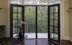 The classic elegance of a double-French door is uncompromised by two Professional door screens mounted on each side of the door frame. Perfect for both in-swing or out-swing varieties, the dual screens meet in the center and are held in place with magnets or optional locking pins.