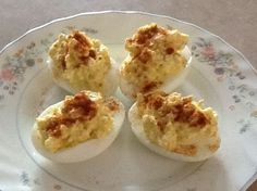 Dukan Deviled Eggs Cottage Cheese (fat free) Eggs Dijon Mustard Paprika Salt and Pepper