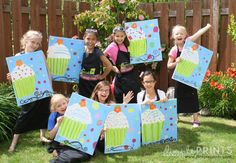 Arty Party crafts and take home gifts. So fun and creative. Check out all the great ideas @Kara's Party Ideas .com