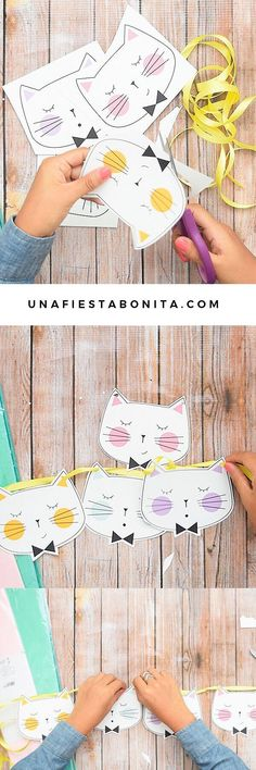 gratis fiesta gatitos and like OMG! get some yourself some pawtastic adorable cat apparel! Kitty Party, Cat Birthday, 2nd Birthday Parties, Fiesta Party, Happy B Day, Childrens Party, Party Time, First Birthdays, Crafts For Kids