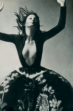 French Vogue~ Renee Pearle. Photo Guy Bourdin, 1970/1971.