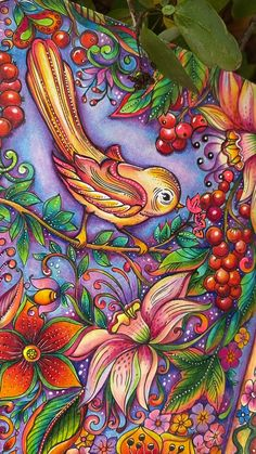 Adult Coloring Book Pages, Coloring Book Art, Mexican Paintings, Secret Garden Colouring, Paisley Art, Johanna Basford Coloring Book, Exotic Art, Colored Pencil Techniques, Mushroom Art