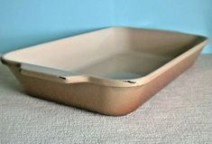 Heavy Vintage Cast Iron Brown Rectangular Oven Pan / Dish Found in France R 918 Cast Iron, It Cast, Oven Pan, Pyrex, Casserole Dishes, France, Cream, Brown, Vintage