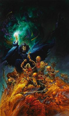 The Magister, Advanced Dungeons & Dragons, Eye of The Beholder II- The Legend of Darkmoon, Game Cover // Jeff Easley