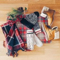 We've got a serious thing for winter essentials!  cred: @emilymen #ardenelove #plaid #winter #accessories #boots