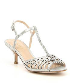 ff7018e6bab596 Pelle Moda Adaline T-strap Metallic Suede Rhinestone Dress Sandals