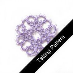 PDF Tatting Pattern 'Janessa' Butterfly Motif - Intermediate