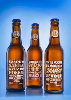 Cerveja lança edição especial de garrafas com frases de sambas clássicos