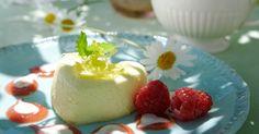 Nå er det tid for rabarbra! Frisk, Mousse, Panna Cotta, Good Food, Pudding, Ethnic Recipes, Easy, Desserts, Tailgate Desserts