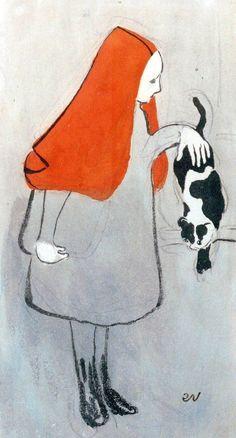 Jeune fille au chat, 1891 / Edouard Vuillard