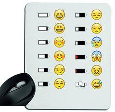 """Mauspad """"Emoji mit Glücklich/Unglücklichem Akku (stand) """" Mousepad, Handauflage, Gamepad, Handgelenkauflage, Windows, Notebook, PC"""
