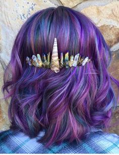 44 Lavishing Purple Hair Color Trends To Follow in 2018