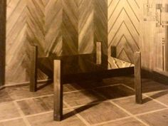 Table for Sommerfeld house, 1921 - Marcel Breuer's student work