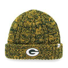 37ea67512ed Green Bay Packers Prima Women s Dark Green Cuffed Knit Hat. 100% acrylic.  One
