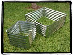 corrugated metal planter