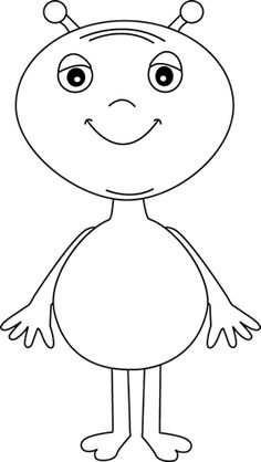 Alien Boy Coloring Page Space Coloring Pages, Monster Coloring Pages, Boy Coloring, Pattern Coloring Pages, Coloring Pages For Boys, Zoo Crafts, Alien Crafts, Felt Animal Patterns, Stuffed Animal Patterns