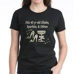 40 AND GLAMOROUS Women's Dark T-Shirt http://www.cafepress.com/jlporiginals/12662833 #40thbirthday #40yearsold #Happy40thbirthday #40thbirthdaygift #40andfabulous #turning40