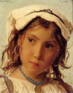Adriano Bonifazi - Peasant Girl From Capri - More works at http://artesehumordemulher.wordpress.com/pinturas-de-adriano-bonifazi-2/ (Thx Seulete)