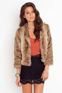 Donna Salyers' Fabulous-Furs Champagne Faux Fur Coat - Plus Too ...