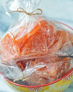 Candied Grapefruit Cocktail Party Favors