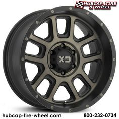 KMC XD Series XD828 Delta Matte Black w/ Tinted Clear Aftermarket Wheels & Rims