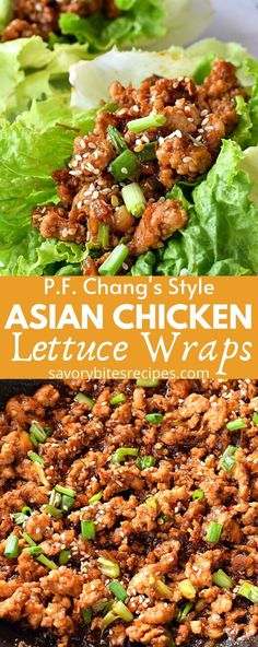 Easy,under 30 mins dinner fix with these delicious,best Asian Chicken Lettuce Wraps,so easy to make and healthy to fix l Lettuce Wrap Sauce, Easy Chicken Lettuce Wraps, Pf Changs Lettuce Wraps, Asian Chicken Lettuce Wraps, Healthy Lettuce Wraps, Chicken Tacos, Chicken Wrap Recipes, Lettuce Wrap Recipes, Healthy Chicken Recipes
