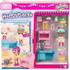 Happy Places Shopkins Season 3 Welcome Pack - Bright Bunny Science Lab Shopkins Season 3, New Shopkins, Shopkins School, Shopkins Gifts, Shopkins Happy Places, Shopkins And Shoppies, Shoppies Dolls, Moose Toys, Monster High Birthday