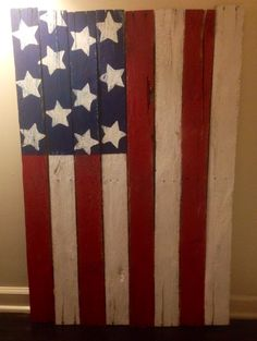 Pallet flag...rustic look