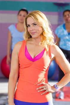 Sally Lamonsoff (Maria Bello) in the aerobics class in Columbia Pictures' GROWN UPS 2. Description from whotalking.com. I searched for this on bing.com/images